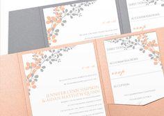DiY Pocket Wedding Invitation Template Set  by KarmaKWeddings