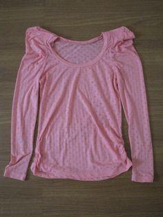 Blusa rosa manga boneca - #blusa #feminina #doacao #donateria #gratis
