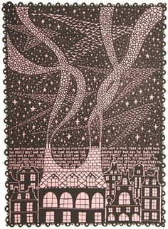 Rob Ryan screenprint