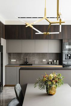 Best Kitchen Design Ideas 2019 To Copy - Home Design and Decor Industrial Style Kitchen, Industrial Interior Design, Apartment Interior Design, Interior Design Kitchen, Kitchen Modern, Modern Industrial, Luxury Interior, Modern Kitchens, Kitchen Grey