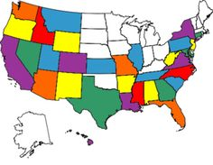 States I have visited...this is so cool