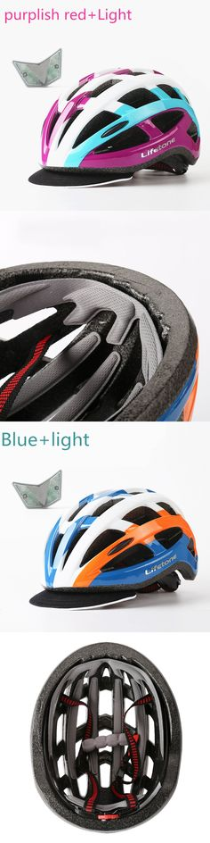 BATFOX Road Mountain Bicycle Helmet Women Casco Bicicleta  Cycling Helmet With Warning Rear Light MTB  Ciclismo Safety Equipment