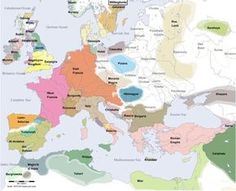 Map of Europe in Year 900 (libby's note: doesn't look half bad)