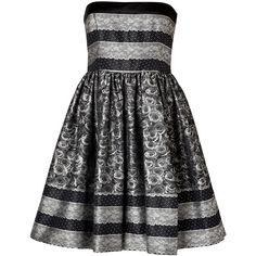 VALENTINO R.E.D. Jacquard Woven Strapless Dress found on Polyvore