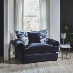 """RAFT on Instagram: """"The perfect winter snuggler- we're looking forward to curling up here away from the cold this evening! We'll customise any of our scatters…"""" Living Room Furniture Uk, Contemporary Living Room Furniture, Rafting, Storage Spaces, Teak, Accent Chairs, Bookcase, Cold, Curling"""
