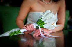 Classic Calla lilies paper flower wedding bouquet