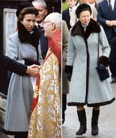(L-R) Autumn Phillips, Peter Phillips and Princess Anne, Princess Royal attend the traditional Christmas Day church service at St Mary Magdalene Church, Sandringham on December 2012 near King's Lynn, England. (Photo by Chris Jackson/Getty Images) Retro Outfits, Zara Phillips, Peter Phillips, The Queens Children, St Mary Magdalene Church, Autumn Phillips, Princess Margaret, Princess Diana, Royal Engagement