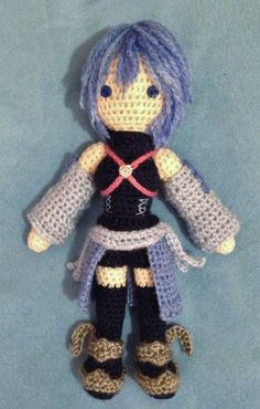 Kingdom Hearts: Birth by Sleep amigurumi - Aqua