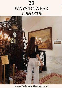 Black t-shirt ( Mango ) White Pants H&M white bag (Bershka) summer outfit idea!