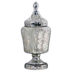 Order them on line under $ 20 Mercury glass apothecary jar.   Product: Apothecary jarConstruction Material: GlassColor: Silver