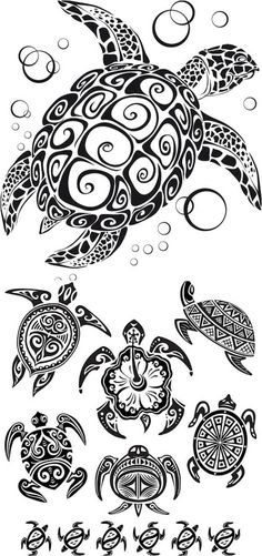Tribal Turtle Tattoo designs are common among tribal men and women, and it has been also seen a craze among urban tattoo lovers. Tribal Turtle Tattoo represents traits and attributes of the animal. Ta Moko Tattoo, Hawaiianisches Tattoo, Tatoo Henna, Armband Tattoo, Mann Tattoo, Tattoo Pics, Samoan Tattoo, Tattoo Flash, Tribal Turtle Tattoos