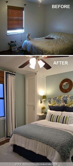 Floor to ceiling built in closets can make the ceiling look higher.                                                                                                                                                                                 More