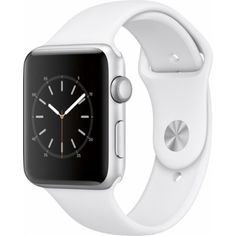 Apple Watch Series 1 Smartwatch (Silver Aluminum Case, White Sport Band) Silver aluminum case dual-core processor Splash resistant Ion-X glass OLED Retina display with Force Touch nits) Apple Watch Iphone, Apple Watch Gen 2, Apple Watch Series 2, Stainless Steel Jewelry, Stainless Steel Case, New Jersey, Sport Watches, Watches For Men, White Watches