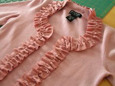 This is beautiful and you can do this with some satin or grosgrain ribbon around the edges if you don't like ruffles.