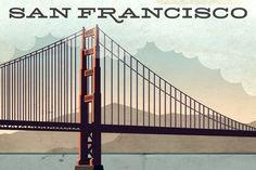 San Francisco Gowalla Postcard by Alan Defibaugh