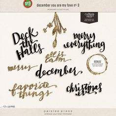 December You Are My Fave Wordart and Cut Files by paislee press