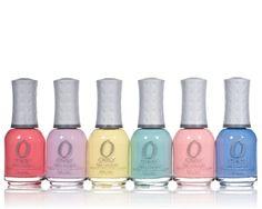 pastel nail varnish set