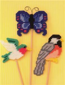 Free Plastic Canvas Magnet Patterns   Flights of Fancy Plastic Canvas Pattern Book Birds   eBay
