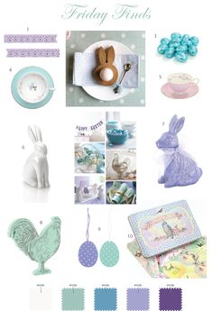 All About Easter. Part - Simple Simon and Company About Easter, Decor Crafts, Easter Bunny, Color Inspiration, Lilac, Colours, Colour Palettes, Spring, Trail