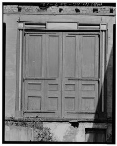 12.  DOUBLE DOOR, SOUTH SIDE OF EAST WING - Robinson-Aiken House, 48 Elizabeth Street, Charleston, Charleston County, SC