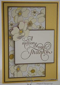 Million and One stamp set and Park Lane Designer Series Paper.  In Canada, get Stampin' Up! at http://tracyelsom.stampinup.net
