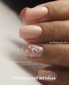 Simple Wedding Nails, Wedding Nails Design, Simple Nails, Trendy Wedding, Simple Elegant Nails, Wedding Ideas, Cute Nails, Pretty Nails, Fancy Nails