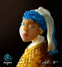 Girl with the pearl earring revisited by various artists
