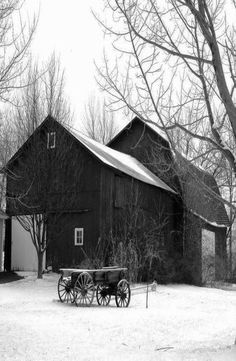 ~love old barns~country red barn & wagon~ Country Barns, Country Life, Country Living, Country Roads, Country Charm, Modern Country, Country Primitive, Farm Barn, Old Farm
