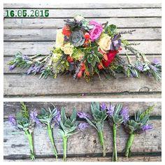 Succulent bride bouquet