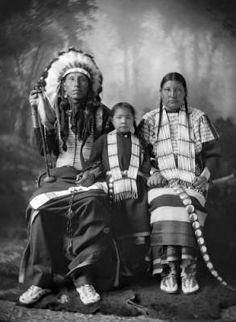 White Face and family, Dakota, 1880's