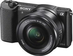 Sony - Alpha a5100 Mirrorless Camera with 16-50mm Retractable Lens - Black - Left