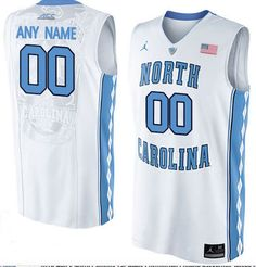 North Carolina Tar Heels Jersey - CUSTOM - three color options
