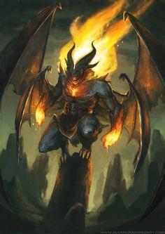 Fire Demon, Alvaro Ramirez on ArtStation at https://artstation.com/artwork/fire-demon-b0e75695-0e3c-4abf-94fc-2d9bba1872d5