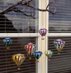 Hot air balloons from aluminum cans.                               Gloucestershire Resource Centre http://www.grcltd.org/scrapstore/