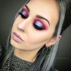 Modern Eye Makeup~ Pinks-Purple-Silver- BOLD #makeuplooksfall #eyeshadowslooks