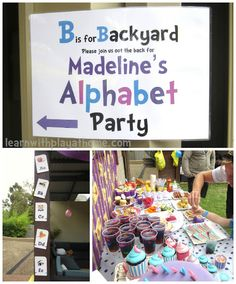 Learn with Play at home: Alphabet Party  such a cute theme for  a party