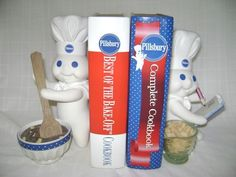 PILLSBURY DOUGH BOY BOOKENDS by DANBURY, so cute for the kitchen !!