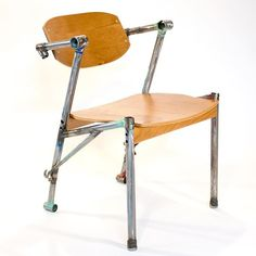 Bike Z Chair Bicycle Frames & Bent Plywood. . . . #chair #bikeframes #upcycledfurniture #furniture #artfurniture #retro #vintagebike #cherry #laminated #plywood #tigwelded #bianchi #schwinn #ericblanpiedfurniture #design #furnituremaker #woodworker #oaklandartist #furnituredesigner #recycle #upcycle