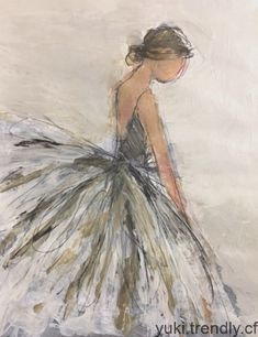 Ballerina Painting, Pen And Watercolor, Paintings, Illustrations, Fine Art, Portrait, Paint, Painting Art, Illustration