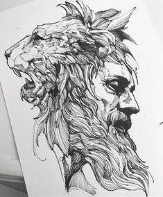 Pin by bliharzh elizabeth on tattoo sketches zeichnungen, ta Lion Head Tattoos, Lion Tattoo, Arm Tattoo, Tribal Tattoos, Tattoo Ink, Tattoo Sketches, Tattoo Drawings, Drawing Sketches, Art Drawings