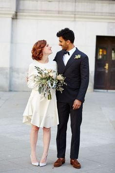 City hall wedding dress inspiration for unique brides - Wedding Party