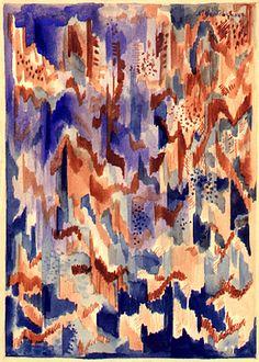 Goncharova, Natalia (1881-1962) - 1913-14 Abstract Comopostion (Christie's) | Flickr - Photo Sharing!