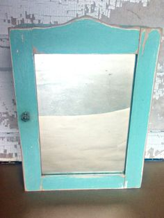 Vintage Wood Mirrored Medicine Cabinet by VintageRelics802 on Etsy
