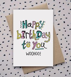 Happy Birthday To You, Hand Drawn, Doodle, Birthday Card