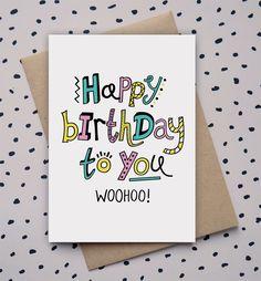 Happy Birthday To You, Hand Drawn, Doodle, Birthday Card