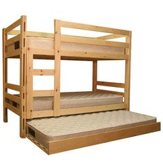Yorkton Twin over Twin Bunk Bed Natural with Trundle