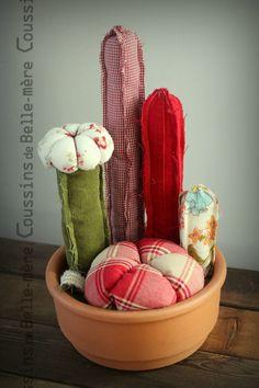 Jardin de cactus tissus recyclés. par coussinsdeBellemere sur Etsy