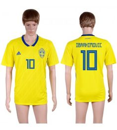Schweden Zlatan Ibrahimovic 10 Heimtrikot WM 2018 Herren All Team, Fifa World Cup, Sportswear, Soccer Jerseys, Polo Ralph Lauren, Thailand, Mens Tops, Vm, Brazil