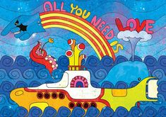 Peter Max Yellow Submarine, The Beatles Beatles Poster, Les Beatles, Yellow Submarine Art, Beatles Party, Hippie Art, Cultura Pop, Psychedelic Art, All You Need Is Love, Best Part Of Me
