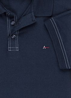 Polo Pesponto Contrastante Polo Shirt Style, Polo Shirt Design, Polo Design, Mens Polo T Shirts, Polo Tees, Men Design, Shirt Designs, Menswear, Mens Fashion
